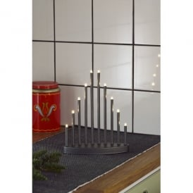Konstsmide 10 Light LED Welcome Light Candlestick in Anthracite Grey Lacquered Metal Finish