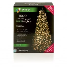 1500 Warm White LED Treebrights with Multi Action Facility