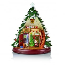 Premier Decorations 29cm Battery Operated Lit Animated Musical Acrylic Christmas Tree