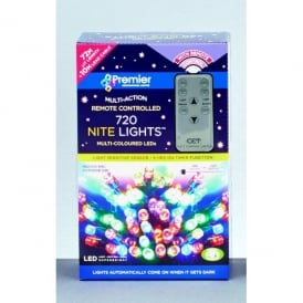 Premier Decorations 720 White LED Nite Lights With Remote Control And Light Sensitive Sensor