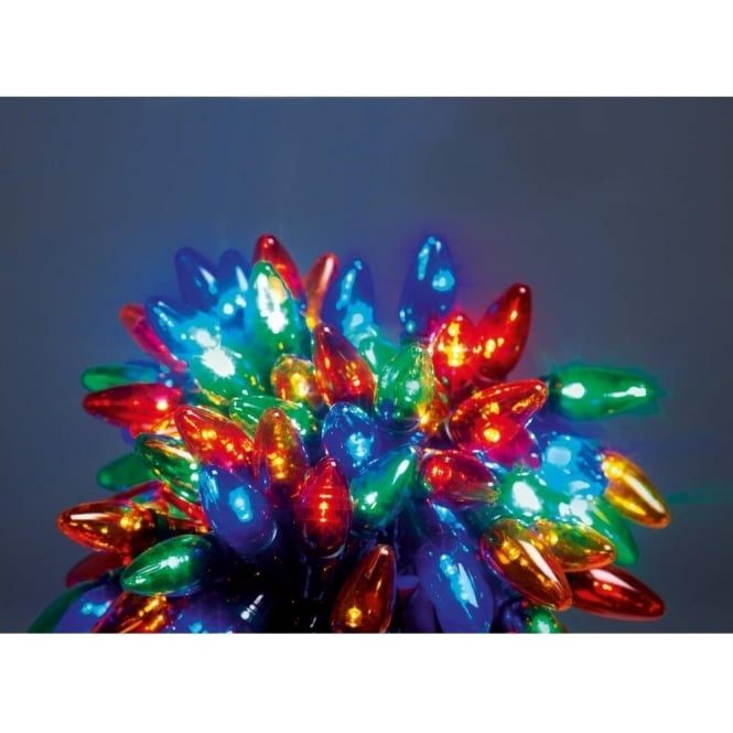 Premier Decorations 80 Multi Coloured Multi Action Led Chasing Lights