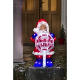 Acrylic LED Santa With Stop Sign