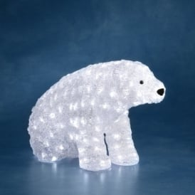 Konstsmide Acrylic Standing Polar Bear with White LED's