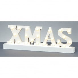 Battery Operated Illuminated XMAS Sign with Warm White LED's