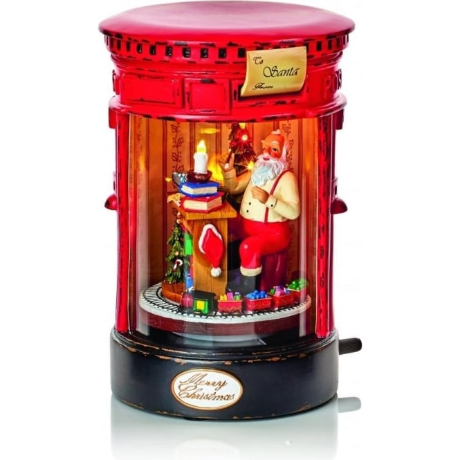 Premier Decorations Battery Operated Lit Animated Musical Santa Mail Box