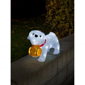 Konstsmide Battery Operated St Bernard Puppy Dog with 32 White LED's