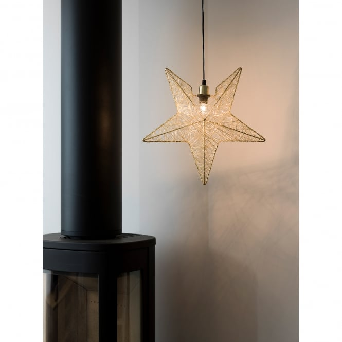 Konstsmide Brass Wire Star Light