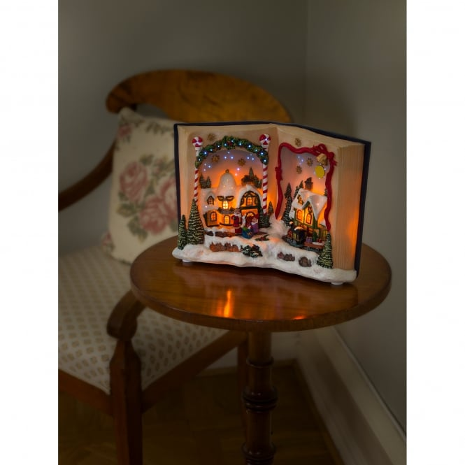 Konstsmide Fibre Optic Christmas Book Decoration with LED and Music