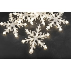 Konstsmide 24v Connectable Set Of 5 Warm White LED Snowflake Lights