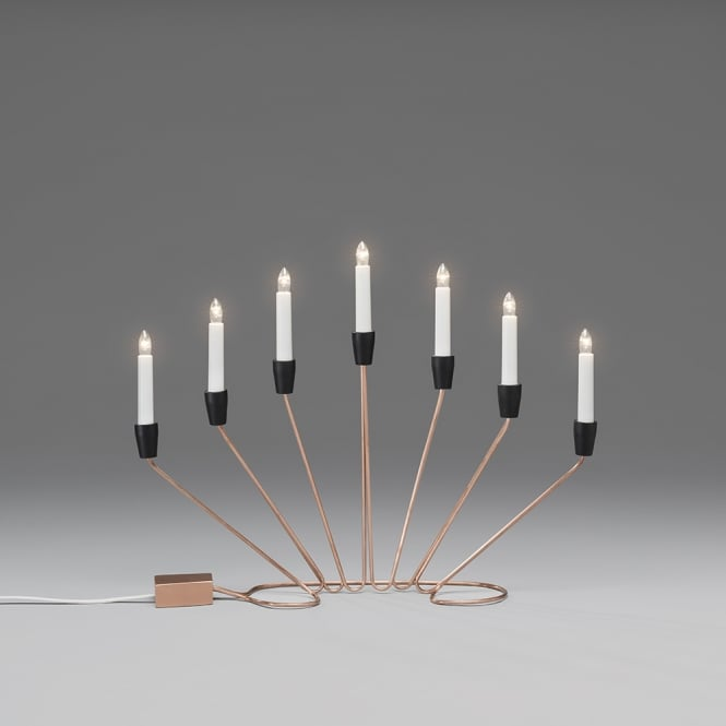 Konstsmide Konstsmide 7 Light Metal Candlestick in Copper Finish