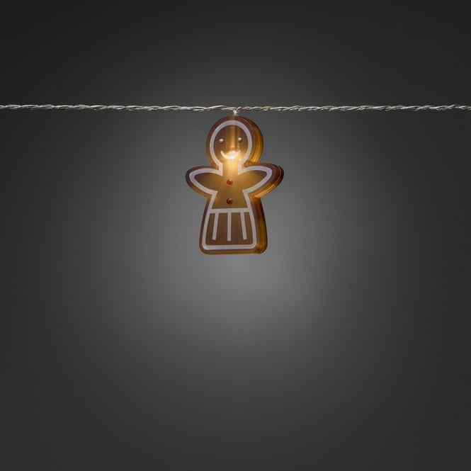 Konstsmide Konstsmide 8 Indoor Mini Gingerbread Women Acrylic Light Set with 8 Warm White LED's