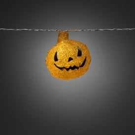 Konstsmide 8 Pumpkin Light Set with 16 Warm White LED's and Timer Function