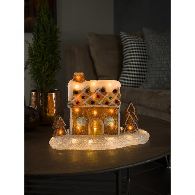 Konstsmide Konstsmide Acrylic Gingerbread House with 48 Warm White LED's
