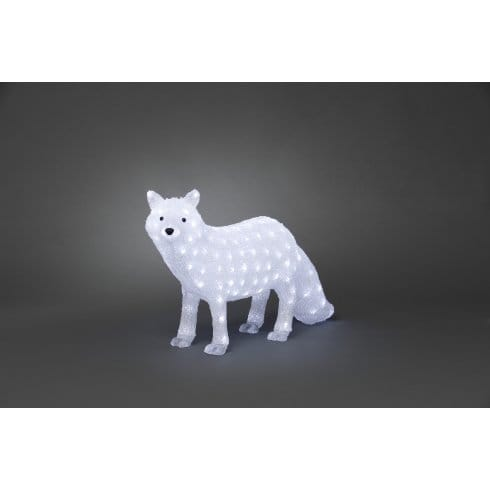 Konstsmide Acrylic Polar Fox With 120 White LED's ... on Blue Fox Outdoor Living id=11632