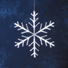 Konstsmide Acrylic Snowflake With 24 Bright White LED's