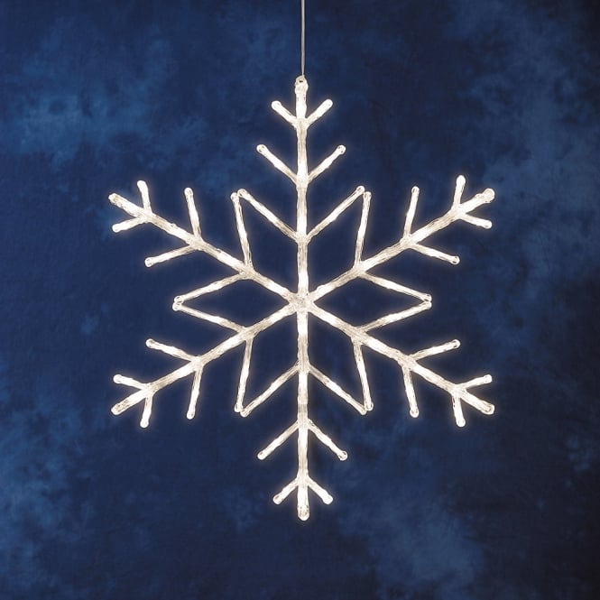 Konstsmide Konstsmide Acrylic Snowflake With 60 Warm White LED's