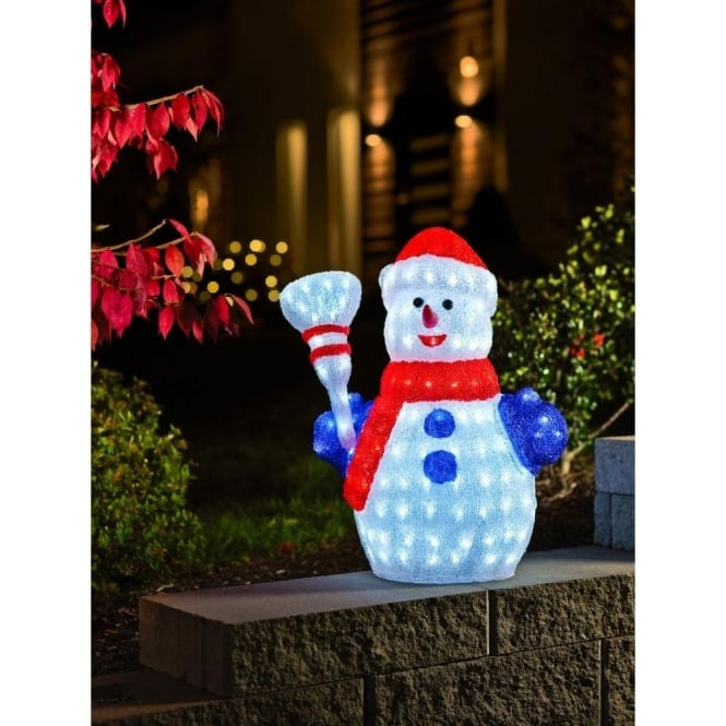 Outdoor snowman light led snowman lights konstsmide for 36 countdown to christmas snowman yard decoration