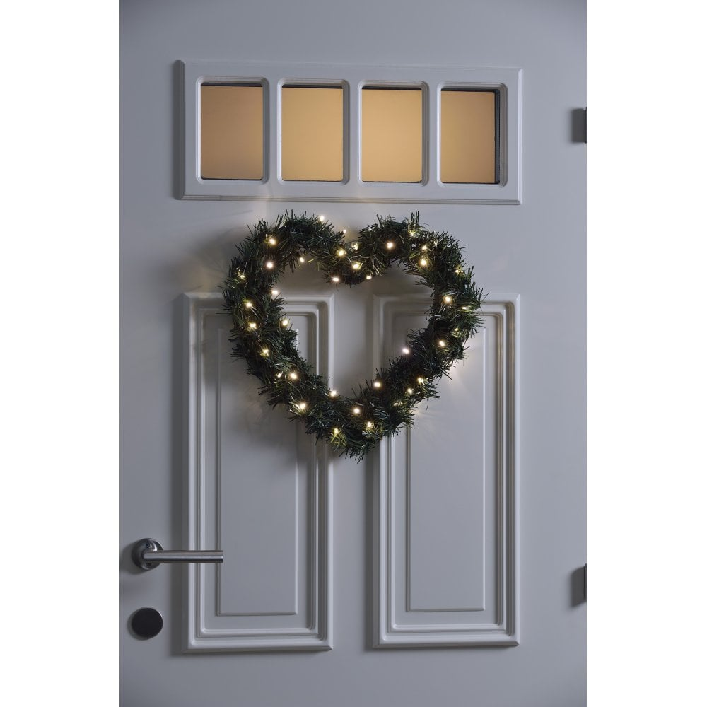 Konstsmide Christmas Battery Operated Outdoor Heart Shaped