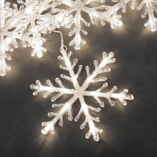 online store cdb84 48be1 Konstsmide Christmas Set Of 5 Warm White LED Snowflake Lights