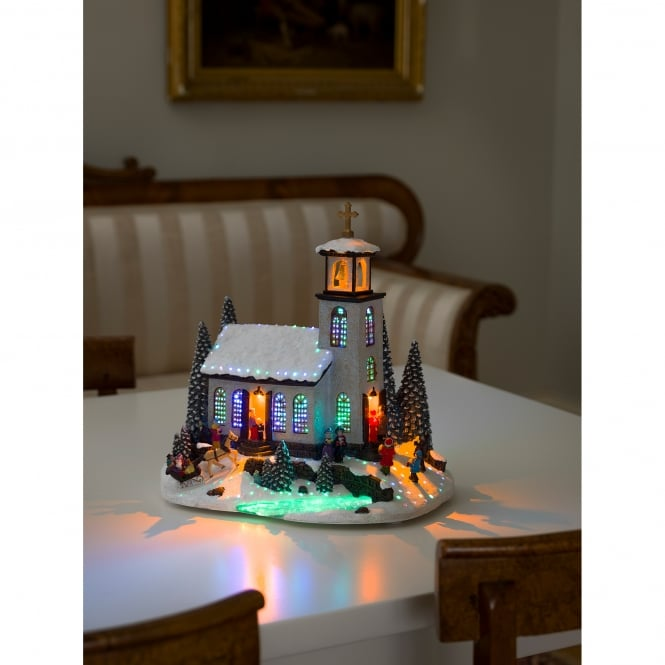 Konstsmide Fibre Optic Christmas Church Decoration with LED