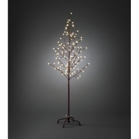 Outdoor Brown Decorative Tree with 120 Warm White LED's