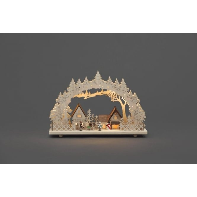 Konstsmide Silhouette LED Welcome Light with Village Scene