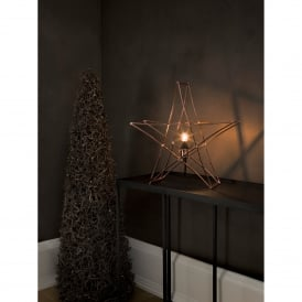 Star Table Lamp in Copper Finish With Black Cable