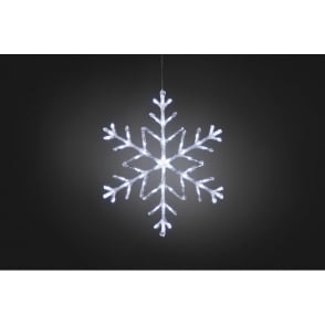 Konstsmide Twinkling Snowflake Light with 60 White LED's