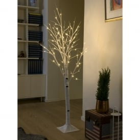 LED Decorative White Birch Tree with 72 LED's