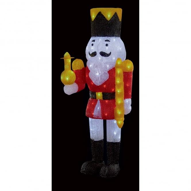 Premier Decorations 1 metre Acrylic Nutcracker Soldier with 120 White LED's