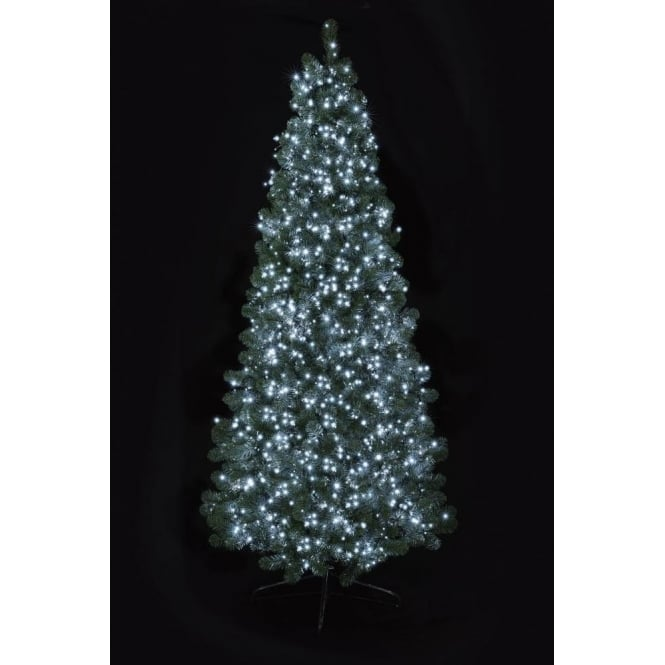 Premier Decorations Premier Decorations 1000 Bright White LED Tree Timebrights with Multi-Action Facility