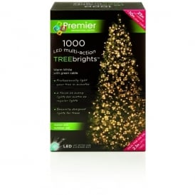 Premier Decorations 1000 Warm White LED Treebrights with Multi-Action Facility