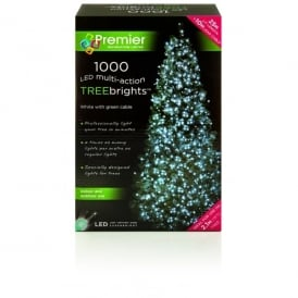 Premier Decorations 1000 White LED Treebrights with Multi-Action Facility