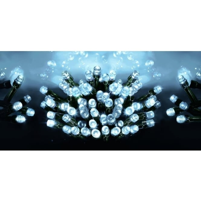 Premier Decorations Premier Decorations 1200 LED Bright White Supabrights Light Set With Multi-Action Facility
