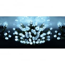 Premier Decorations 1200 LED Bright White Supabrights Light Set With Multi-Action Facility