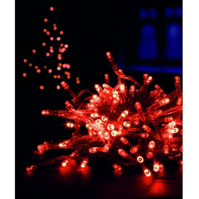 Premier Decorations 200 Red LED Multi-Action Supabright Light Set