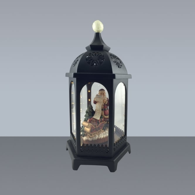 Premier Decorations 38cm Battery Operated LED Musical Classic Santa Lantern