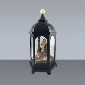 38cm Battery Operated LED Musical Classic Santa Lantern