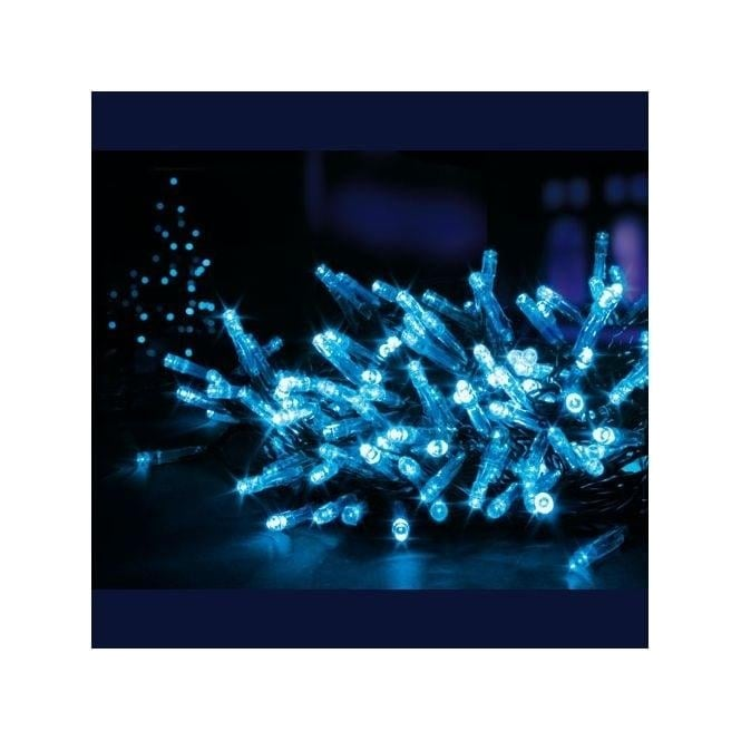 Premier Decorations 480 Blue LED Multi-Action Superbrights Light Set