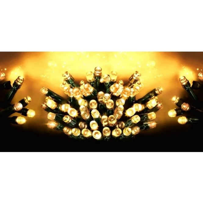 Premier Decorations Premier Decorations 720 LED Traditional Golden Glow Supabrights Light Set With Multi-Action Facility