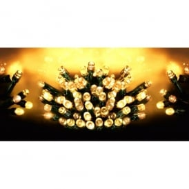 Premier Decorations 720 LED Traditional Golden Glow Supabrights Light Set With Multi-Action Facility