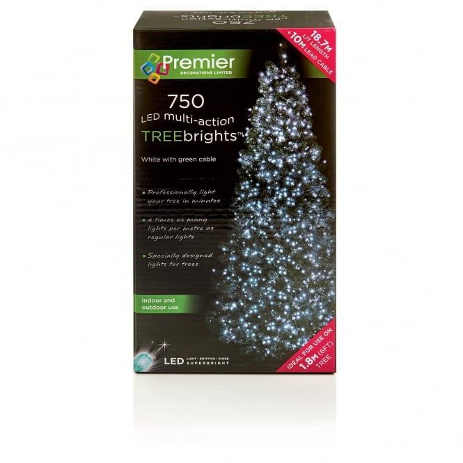 Premier Decorations 750 White LED Treebrights with Multi Action Facility