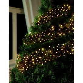 Premier Decorations 960 LED Traditional Golden Glow Cluster Light Set With Multi-Action Facility