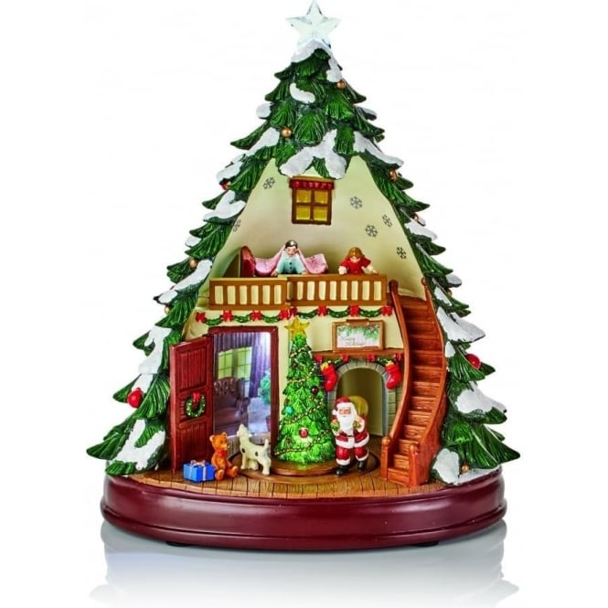 battery operated lit animated musical acrylic christmas tree - Musical Animated Christmas Decorations