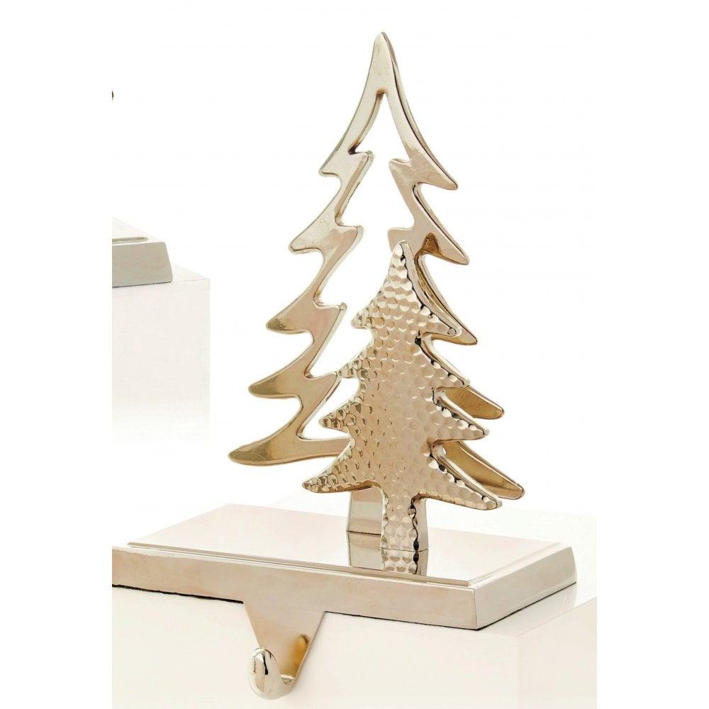 Christmas Tree Stocking Holder.Premier Decorations Christmas Tree Stocking Holder In Silver