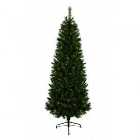 Pre-Lit Monterey Fir Artificial Christmas Tree With 180 Warm White LED's