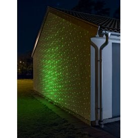 red and green laser light with star effect motif and timer