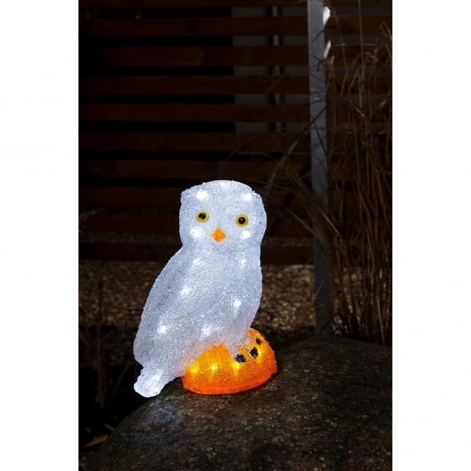 Konstsmide Snowy Owl with 32 White LED's