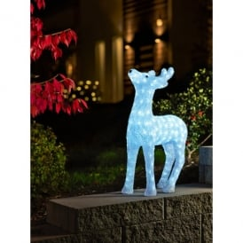 White Acrylic Reindeer with LEDs