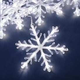 Konstsmide White LED Snowflake Light Set